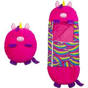 Aquarobo Sac de Couchage Happy Nappers Sac de Couchage pour Enfants avec Oreiller Sac de Couchage en Peluche Super Doux Sacs de Couchage de Camping gar/çon Fille