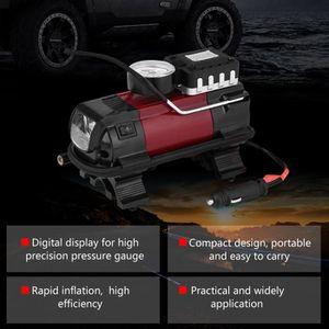 COMPRESSEUR 12V Pompe compresseur d'air gonfleur pneu voiture 12V