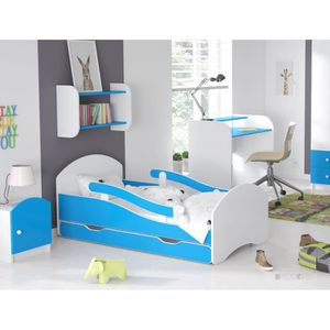 LIT COMPLET LIT ENFANT Dreams BLEU 160x70cm, AVEC MATELAS & BA
