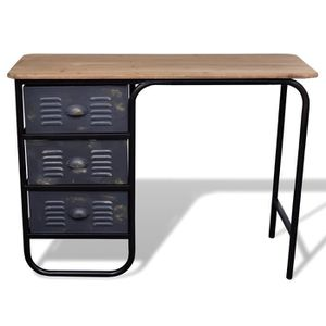 bureau industriel achat vente bureau industriel pas cher cdiscount. Black Bedroom Furniture Sets. Home Design Ideas