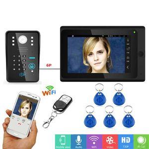 TMEZON Wifi IP Vid/éo Interphone Visiophone,10 Pouce Moniteur /Écran Tactile avec 2*720P Sonnette de Cam/éra Filaire Vision Nocturne,Parler//Enregistrer,D/éverrouiller /à distance,Surveiller via Smartphone