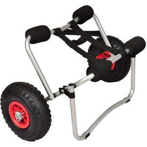 KAYAK Chariot de kayak en Aluminium Pliable  Aluminium