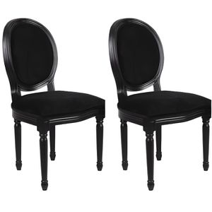 chaise velours achat vente chaise velours pas cher cdiscount. Black Bedroom Furniture Sets. Home Design Ideas