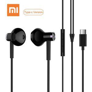 CASQUE - ÉCOUTEURS Xiao-mi Écouteurs USB de type C à commande câblée