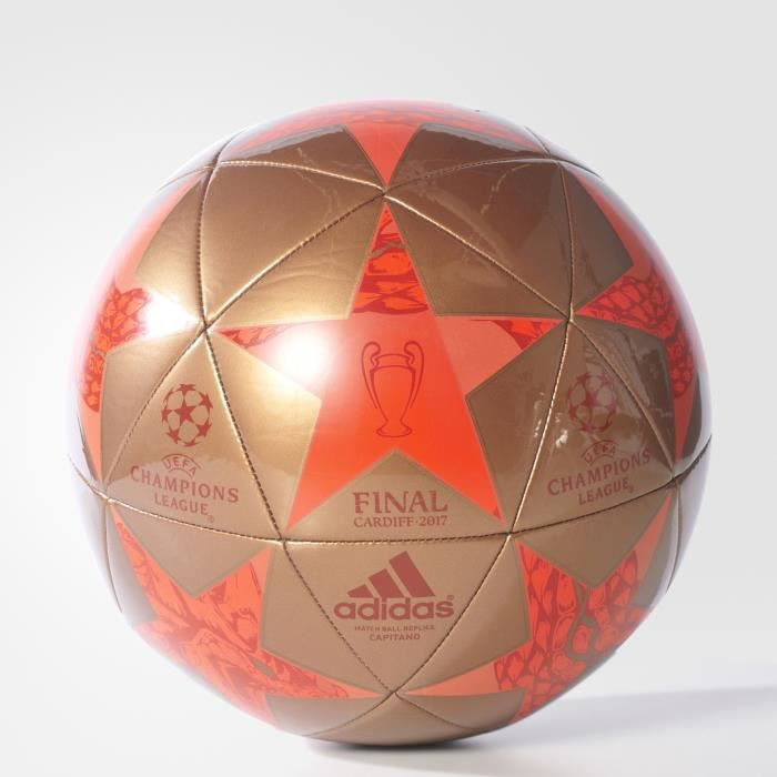 Ballon adidas Finale Cardiff Capitano - cuivre/rouge solaire/rouge intense - Taille 5