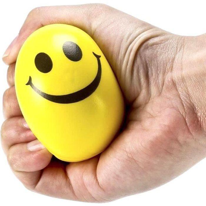 6Pcs Smile Boule de Stress,Balles Jouets Décompression,Balle Anti-Stress,Balles De Jouets De Décompression pour Enfants