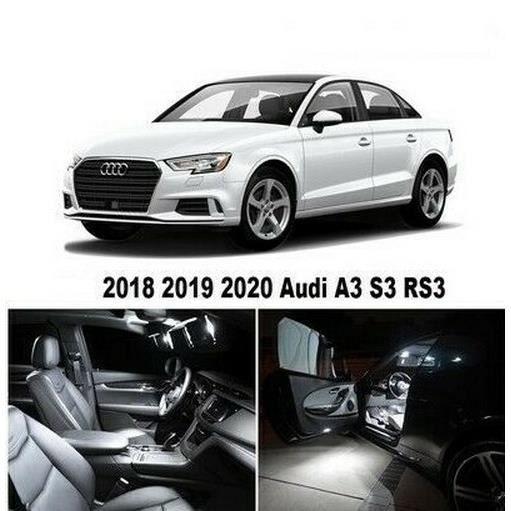 Audi A3 S3 RS3 pack LED ampoules eclairage interieur Blanc Xenon 17pcs