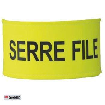 Brassard Serre File Taille Unique Réglable - Largeur 7 cm - Jaune Fluo - Brassard de sécurité