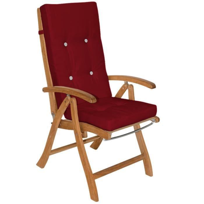 6x Coussin De Chaise - Chaise à Dossier Haut Rouge