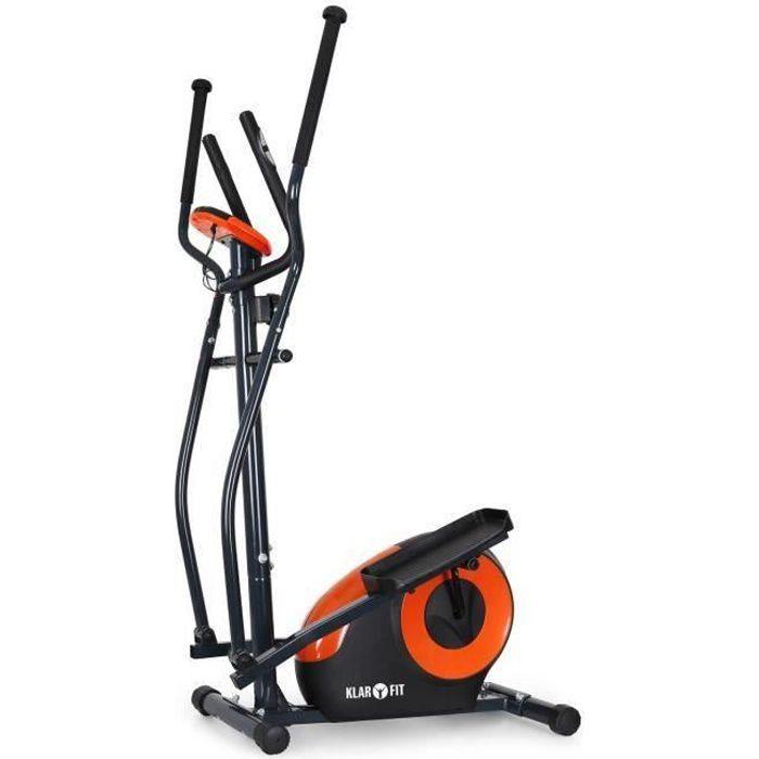 Klarfit Ellifit FX 250 - Vélo d'appartement elliptique ergonomique avec ordinateur de bord et pulsomètre - crosstrainer ( max 110kg)