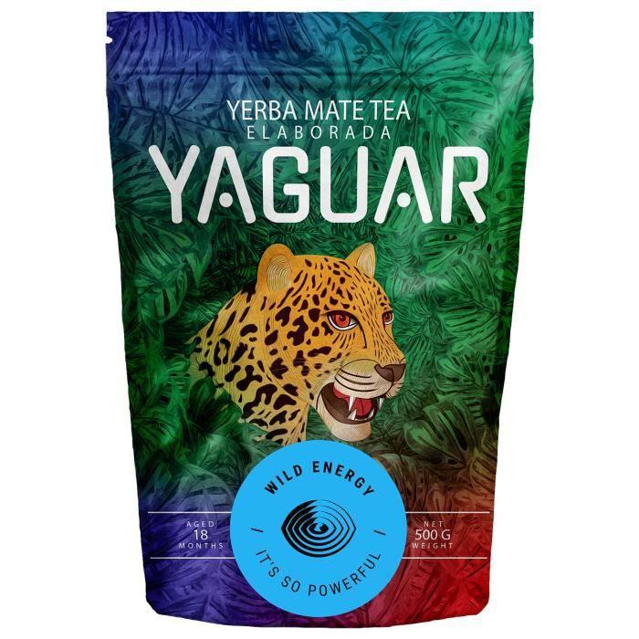 Yaguar - Yerba Maté Wild Energy 500g - Forte teneur en caféine - Maté d'Argentine - Forte Stimulation - Maté Très Énergisant - sans
