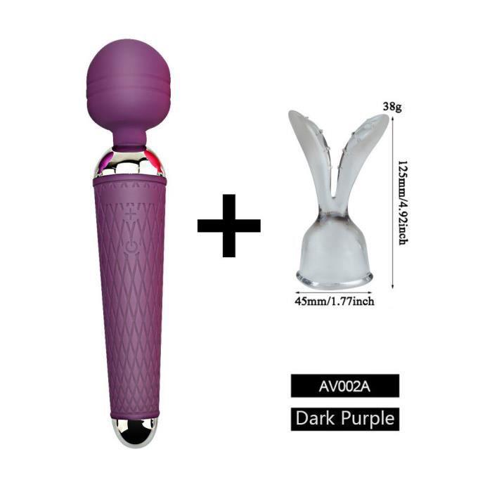 G Spot vibrateur accessoires casquettes, magique AV vibrateur baguette Extension de couvre chef, jouets - Type Dark Purple A