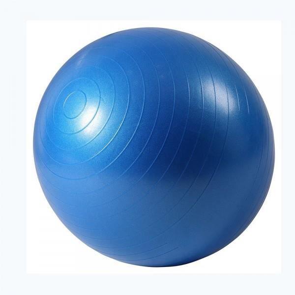 ISE Ballon de gymnastique Anti-éclatement - Ballon d exercice 55cm de Diamètre avec Pompe Bleu SY-2001BL65-FR