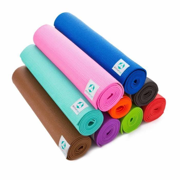 #DoYourYoga Annapurna Comfort Tapis de Yoga-, Pilates, Gymnastique 183 x 61 x 0,5 cm Noir 183 x 61 x 0,5cm