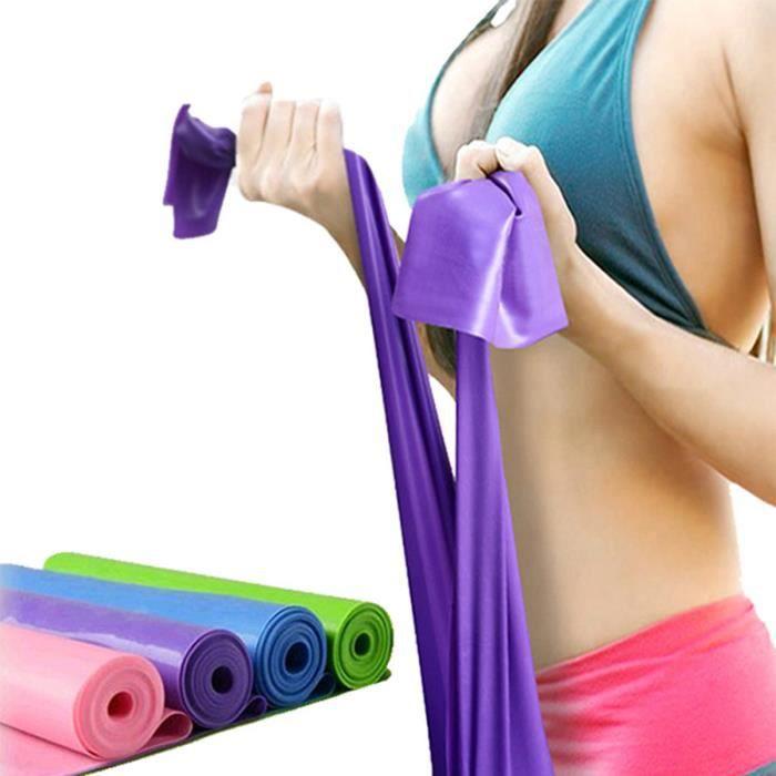 Lot de 5 Bandes Elastique de Resistance Fitness Musculation