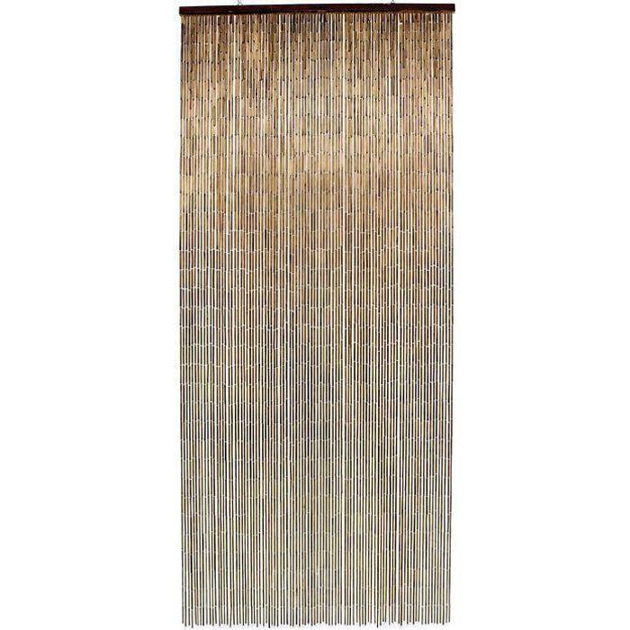 Rideau de porte Acajou bâtonnets bambou vernis - 90x200 cm