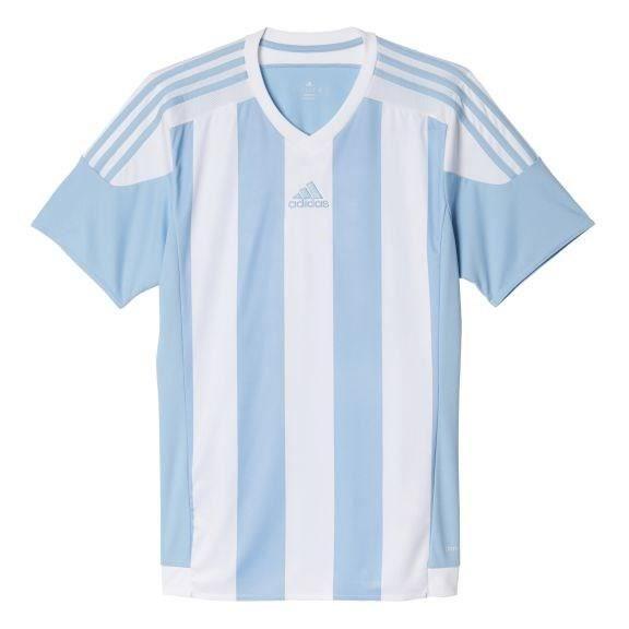 ADIDAS Maillot de Football Striped 15 Bleu / Blanc