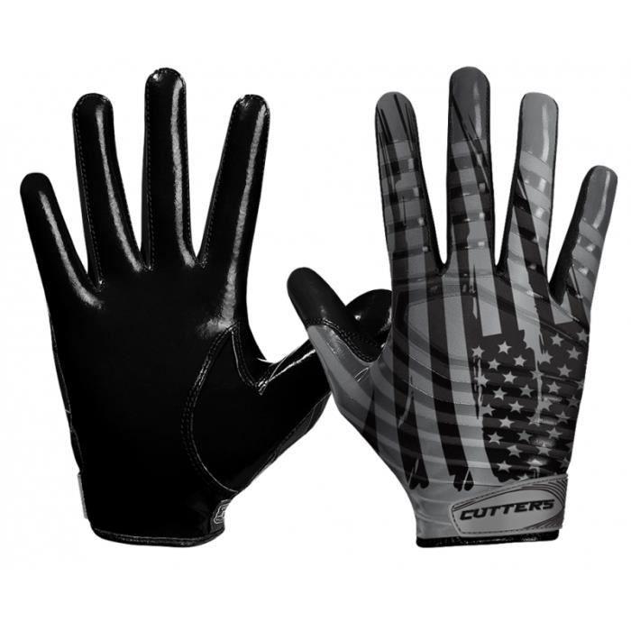 Gant de football américain Cutters S252 Edition Limitée USA Noir pour Enfant