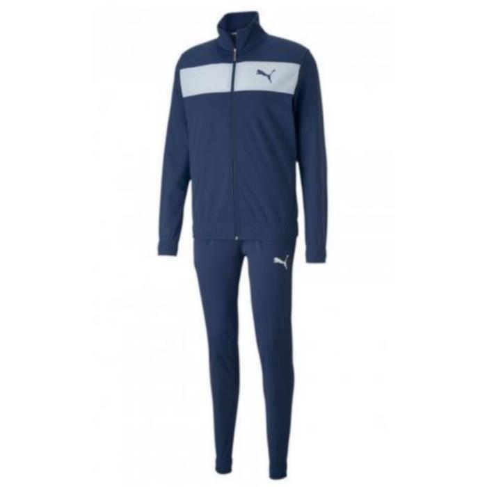 Jogging Homme Puma Tech Bleu Marine et Blanc