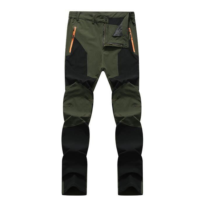 Pantalons de Randonnée Homme de Marque Imperméable Respirant Pantalons Extensible