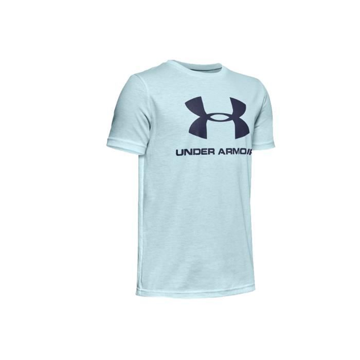 Under Armour Sportstyle Logo Short Sleeve Jr 1330893-462, Enfant, bleu, t-shirt