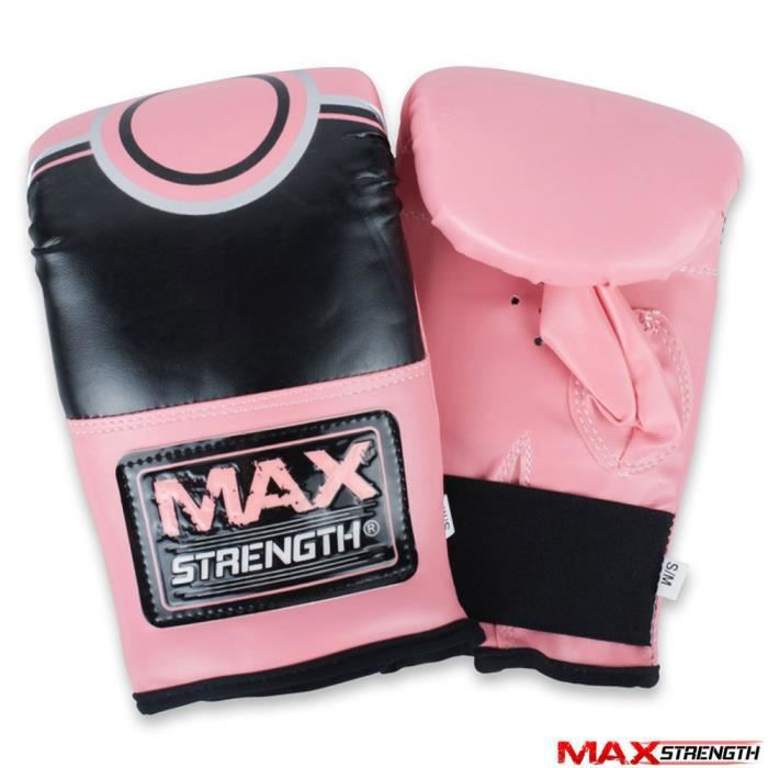 Max Strength Pro Bag Mitaines Gants Boxe MMA UFC Muay Thai Training Grappling Punch Heavy