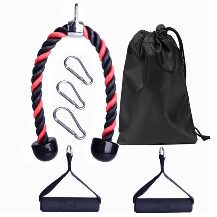 ONEVER Ensemble De Corde Triceps Remise En Forme Exercice Bras Câble Équipement Fitness Pour Biceps Dos Abdomen