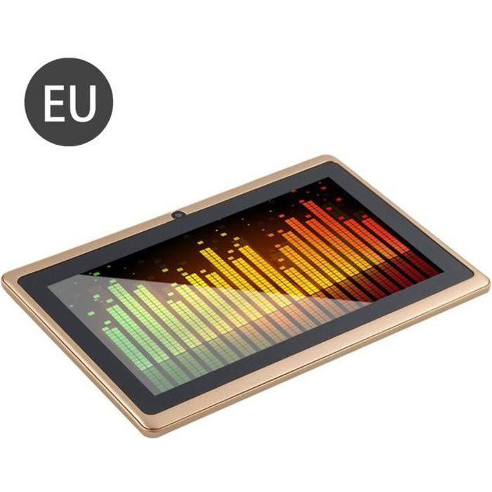 7 pouces écran HD tablette Tactile Pc A33 sans fil 512M+4G - or