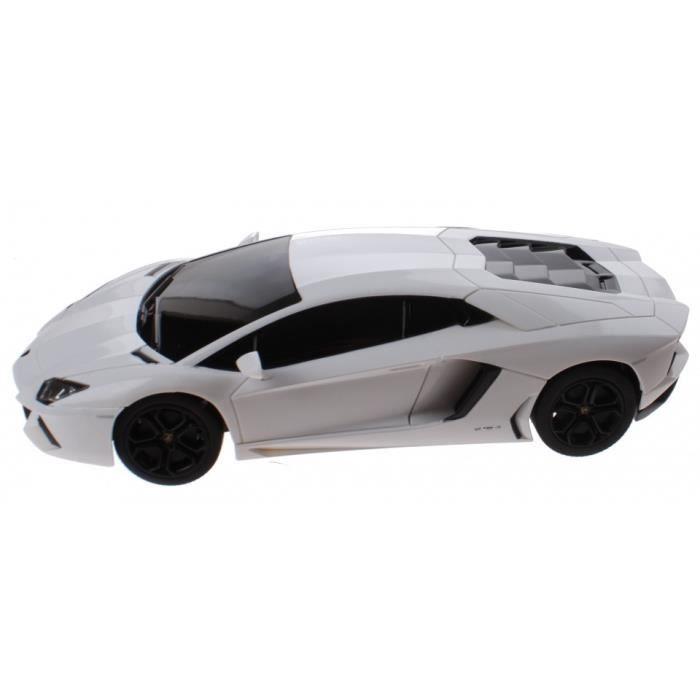 Rastar RC Lamborghini Aventador plat 1:14 blanc 30 cm