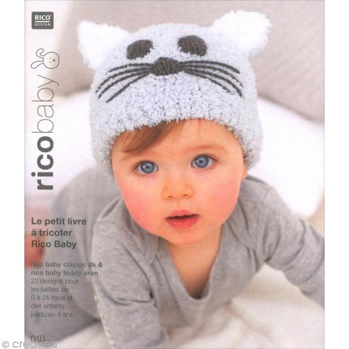 Livre Rico Design - Rico baby n°10 - Rico baby classic dk - teddy aran Livre de tricot pour faire des vêtements et accessoires pour