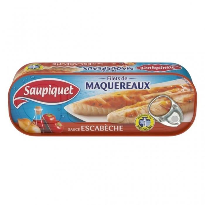 Saupiquet Filets de Maquereaux Sauce Escabèche 169g (lot de 5)