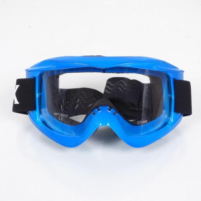 Lunette masque bleu TORX moto cross enduro quad écran anti rayure / buée Neuf