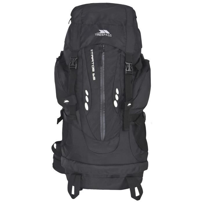 TRESPASS Sac à dos Stratos - 65 L - Noir