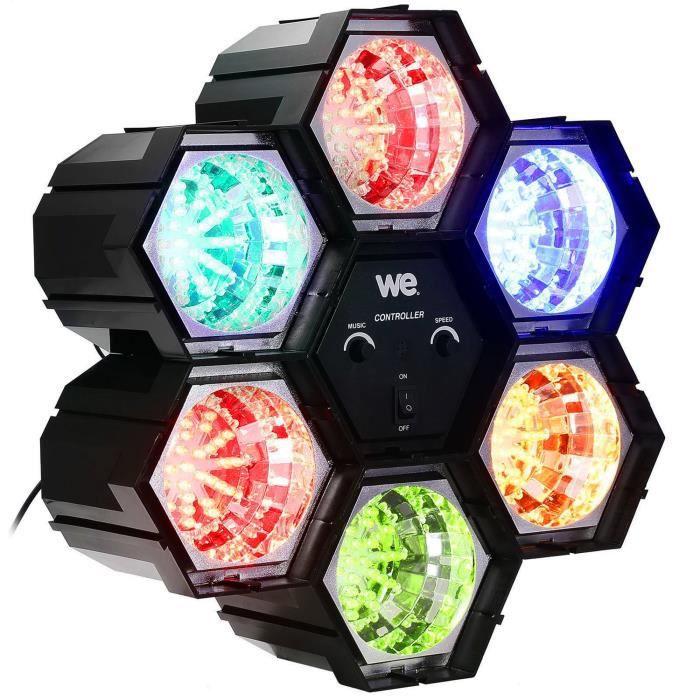 Nirvana - Modulateur 6 modules 216 LEDs 5 COULEURS - Vitesse réglable, Mode Auto-Musical