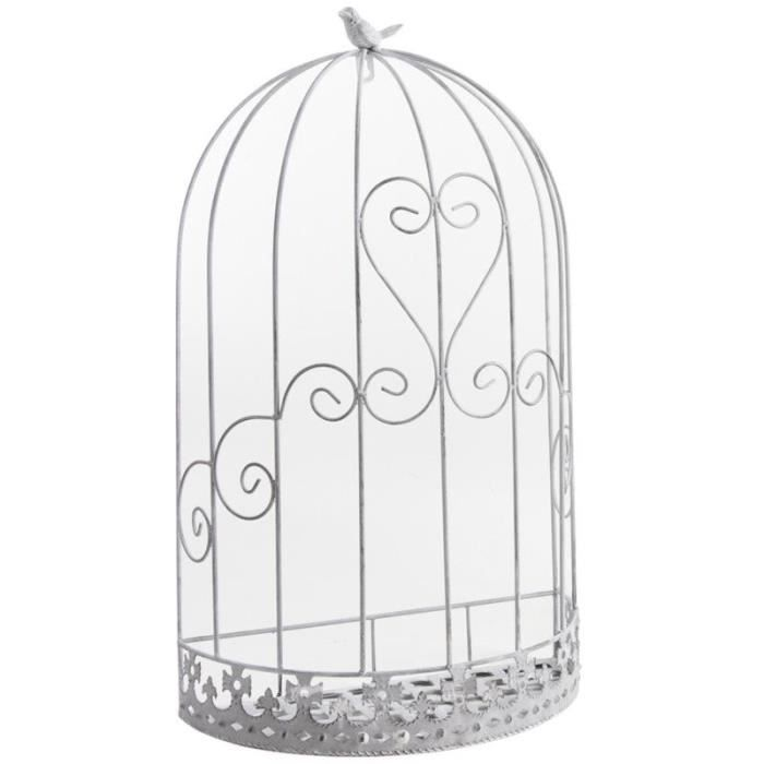 cage murale d co oiseau en m tal 37x20x62cm achat. Black Bedroom Furniture Sets. Home Design Ideas