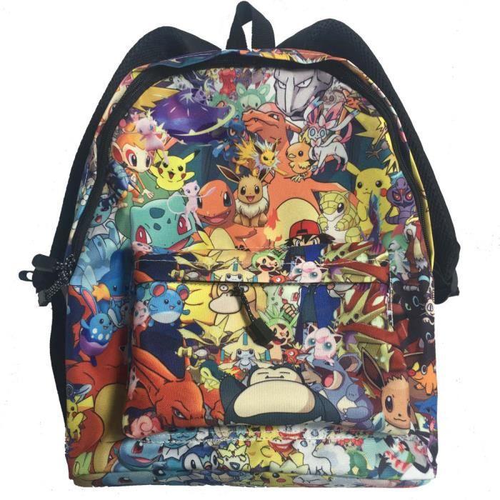 Color : Black01, Size : 30 X 13 X 43cm Pokemon Sacs /à Dos Loisir Sac /à Dos /éclaircissant Loisirs Respirante Cartable Conception Simple Daypack Unisexe Unisexe