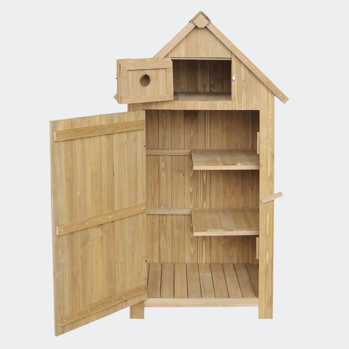 cabane de jardin troite en bois de sapin achat vente. Black Bedroom Furniture Sets. Home Design Ideas