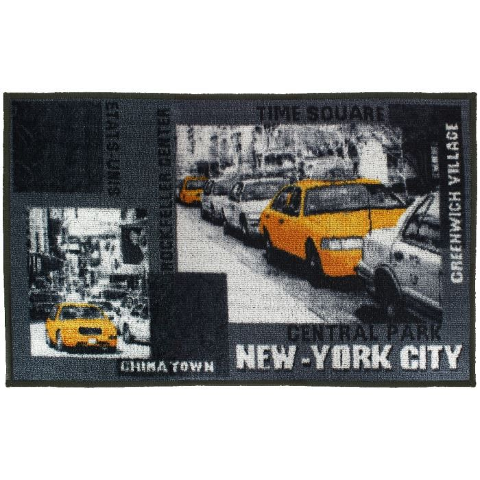 Tapis design imprim new york taxi avenue 50x80cm achat for Tapis chambre new york