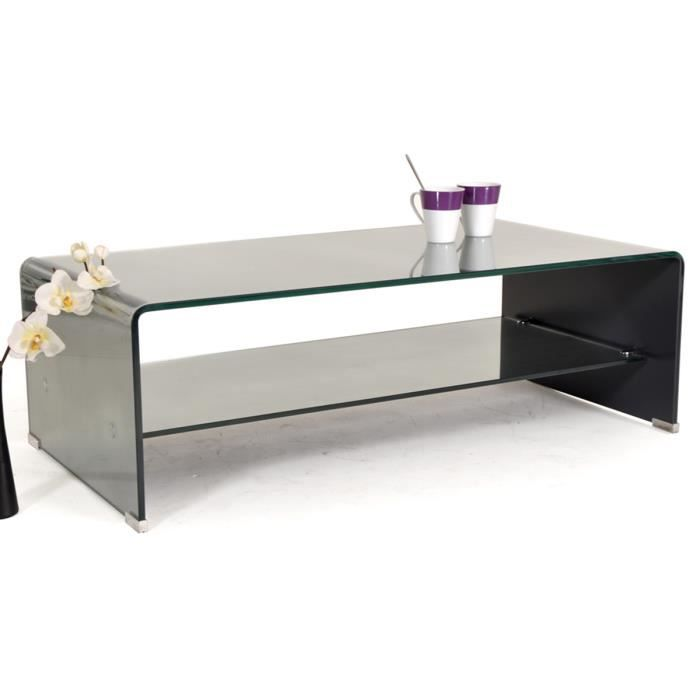 table basse rectangulaire verre effet miroir tremp cristo. Black Bedroom Furniture Sets. Home Design Ideas