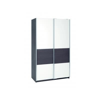 Armoire lucie 2 portes coulissantes cm achat for Armoire porte coulissante profondeur 50