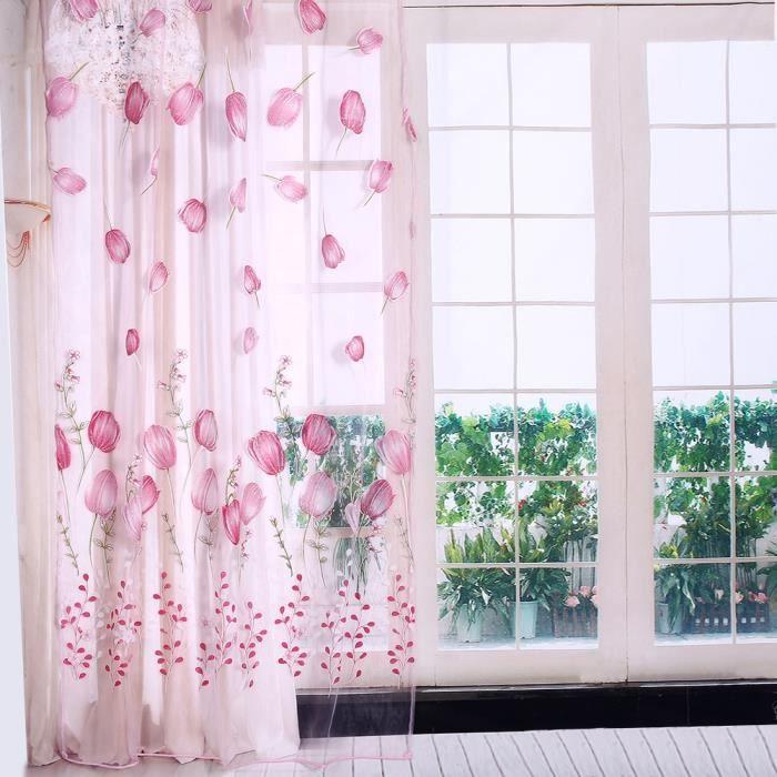Fotogardinen tulipes sur mesure surfaces rideau coulissante rideaux avec motif