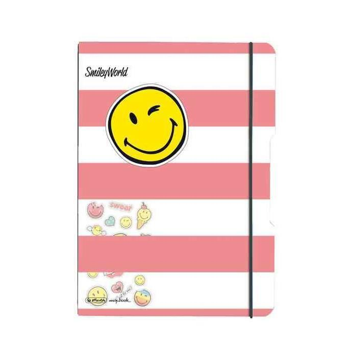 Cahier Flex Smiley World Girly Carreaux 2 X 40 Feuilles Ligné A4