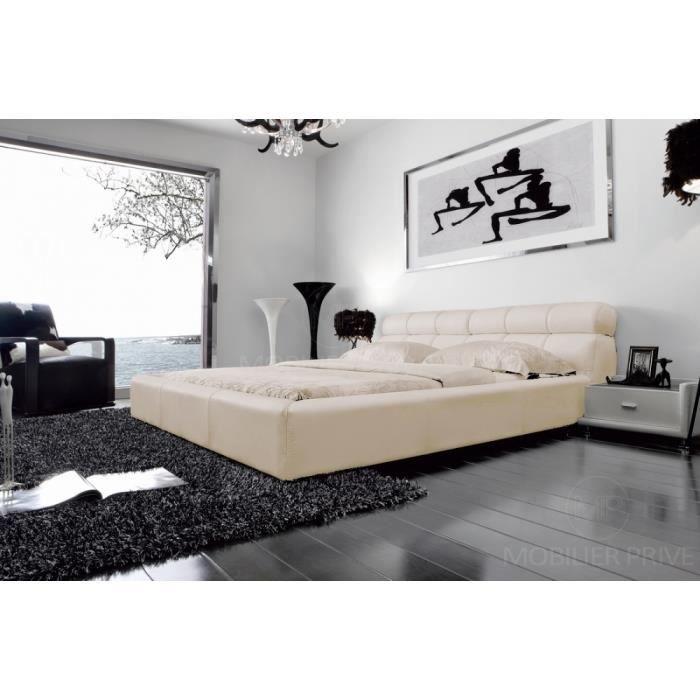 STRUCTURE DE LIT Lit en cuir italien de luxe REVA,