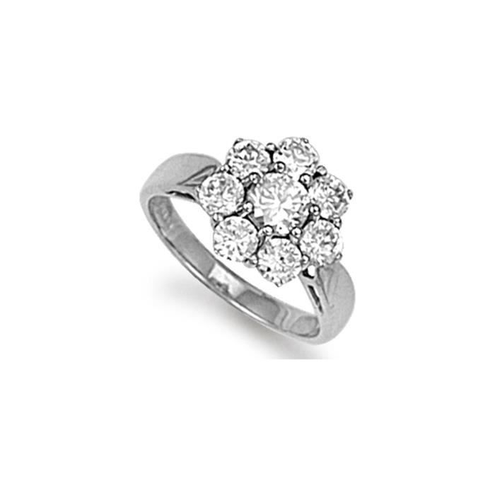 Jewelco London Dames Argent sterling blanczircone cubique bague
