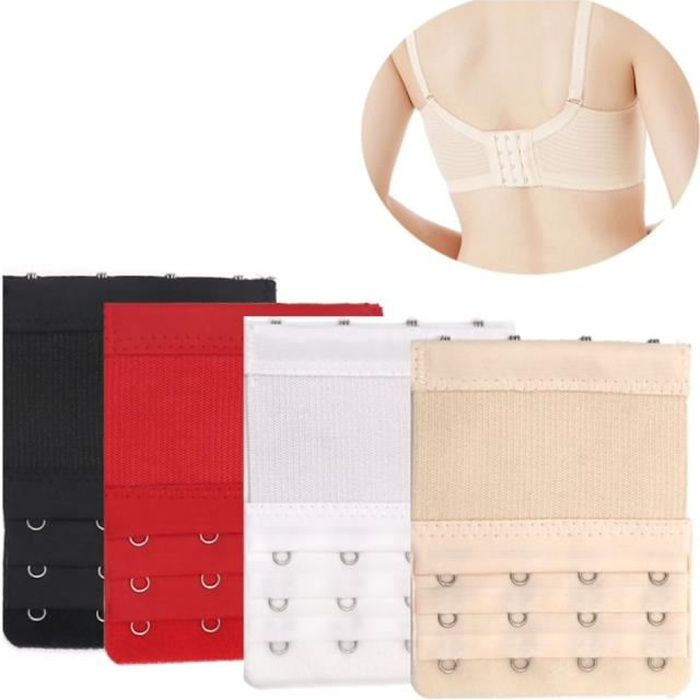 astuce lingerie 3 rallonges noires extension soutien gorge 4 crochets