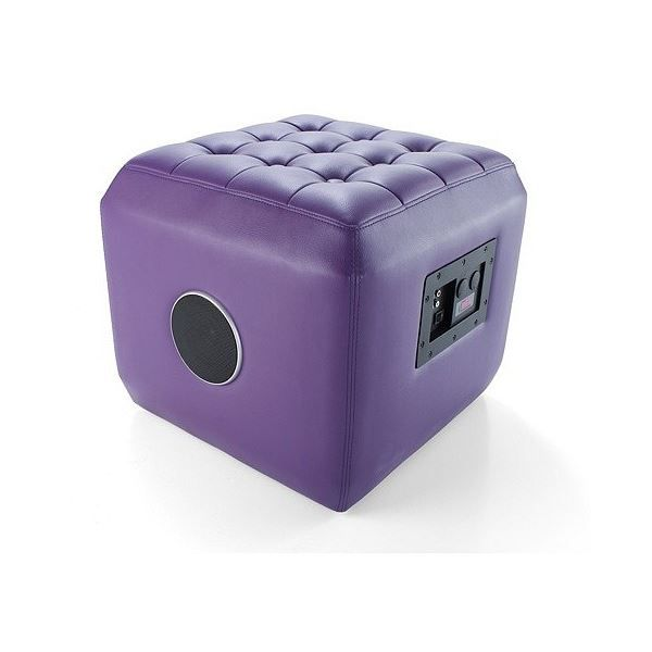 pouf music rocker multimedia cube mini violet achat vente pouf poire cdiscount. Black Bedroom Furniture Sets. Home Design Ideas