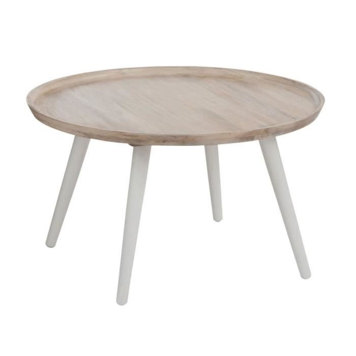 Table Basse Ronde Bois Blanc Metro Achat Vente Table Basse