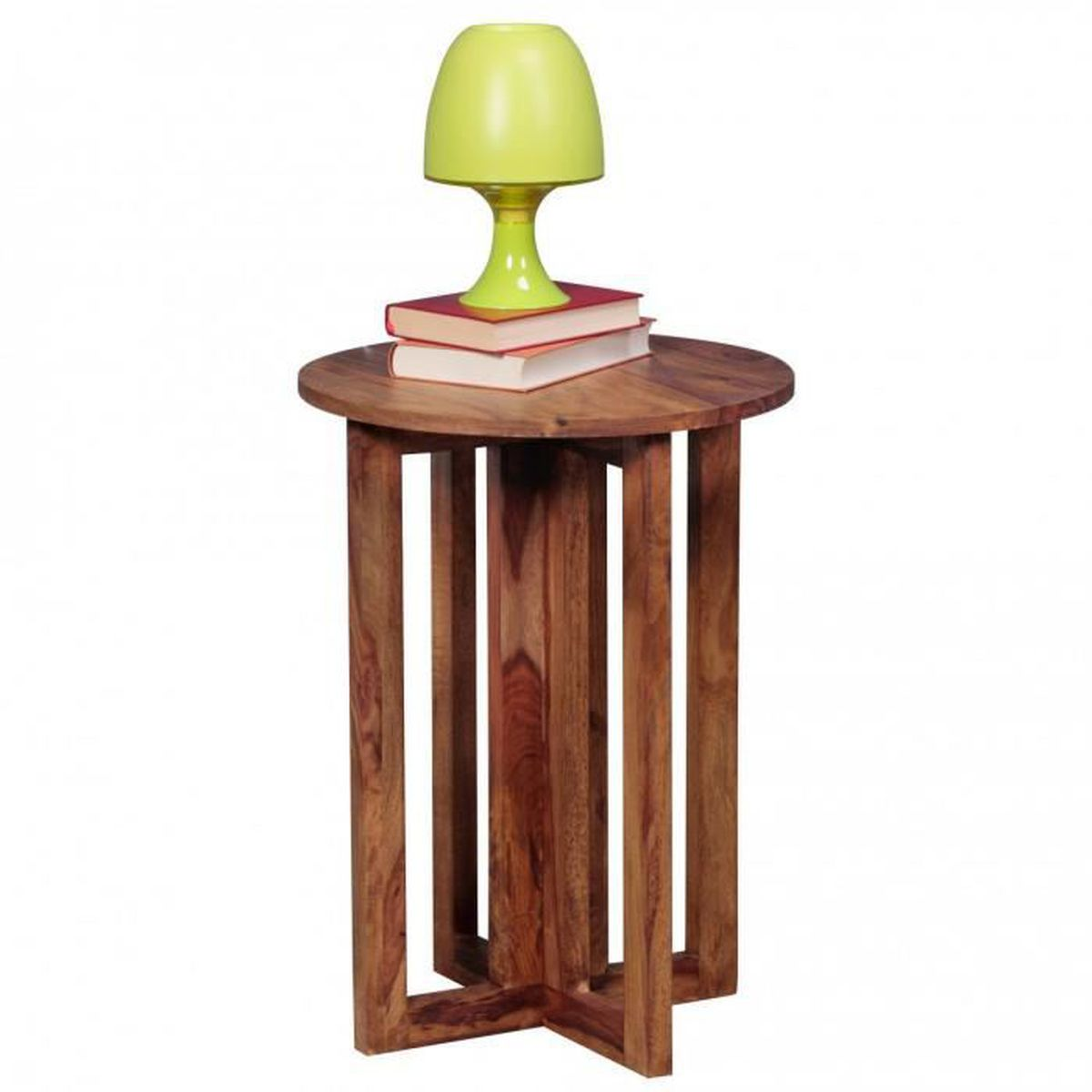 Table solide design sheesham bois table anstell 45 x 45 cm for Table de chevet largeur 20 cm