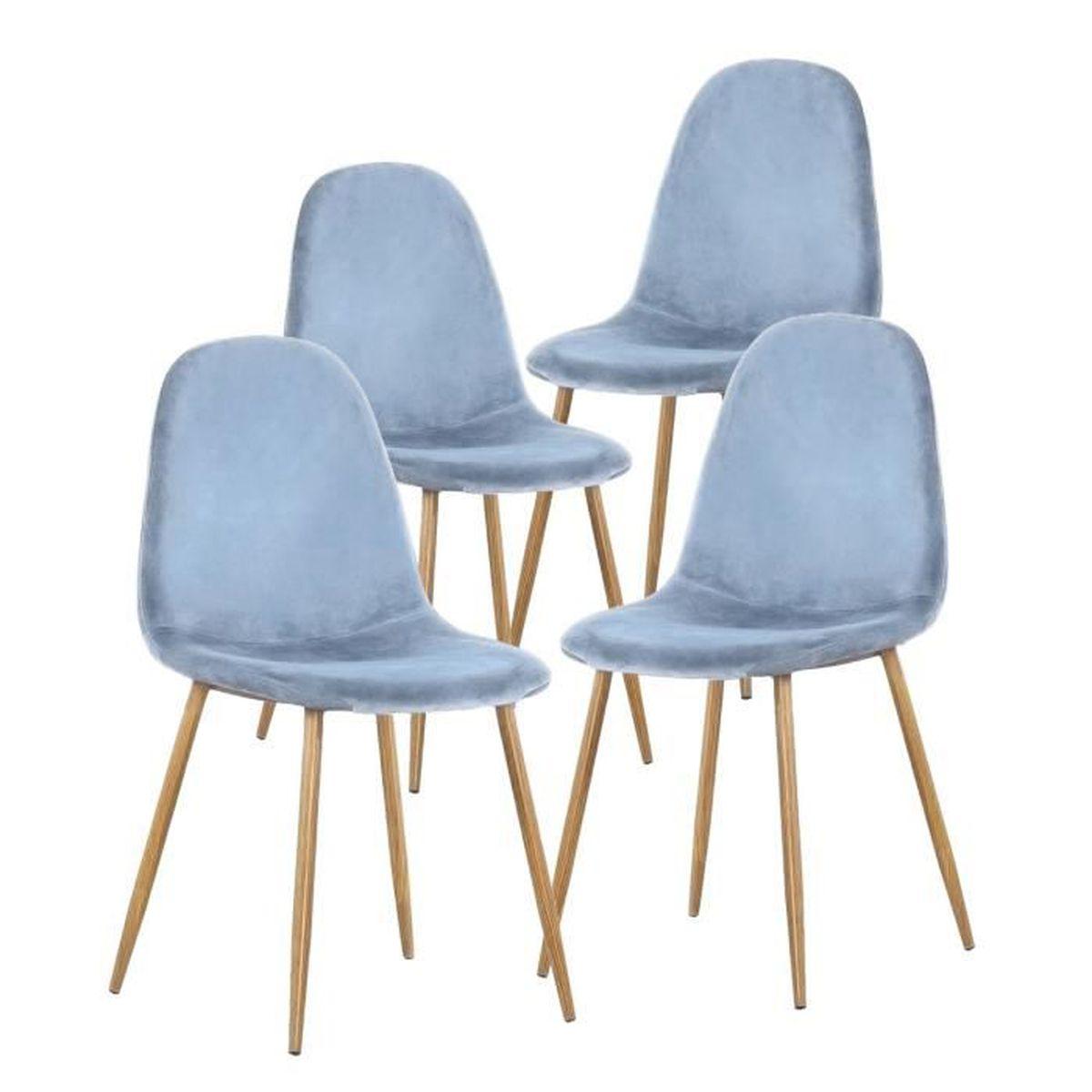 Besta Salle A Manger lot de 4 chaises en bois blanc