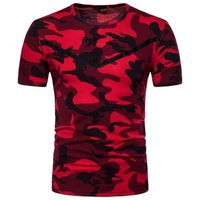 T-SHIRT Hommes T-Shirt chemises occasionnel camouflage Pri